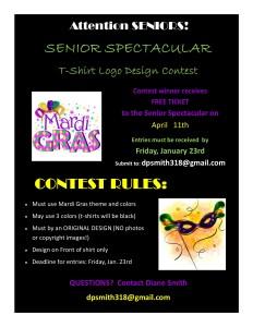 Senior Spectacular Poster